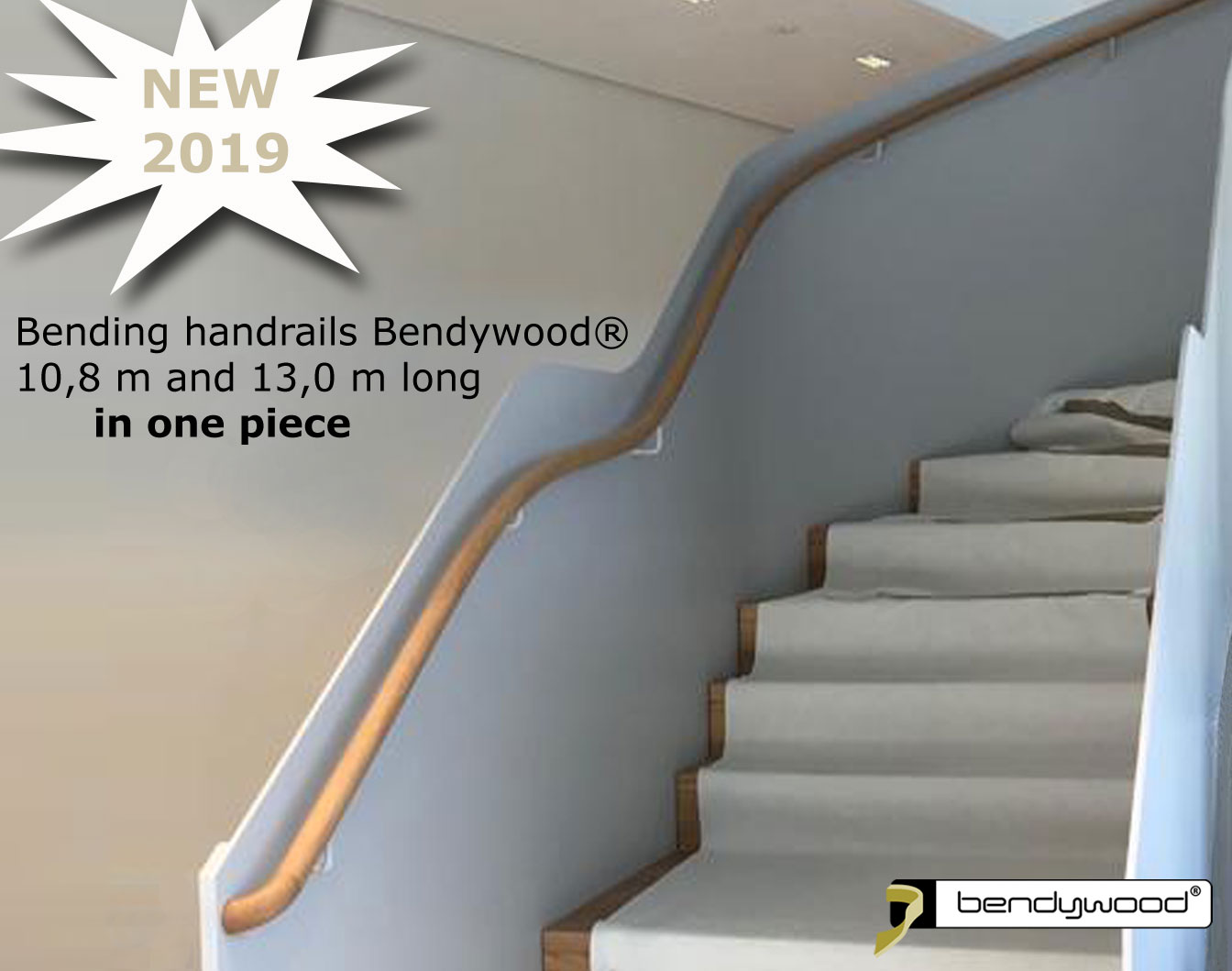 Bending wood Bendywood® - bending handrails up to 13 m long in one piece