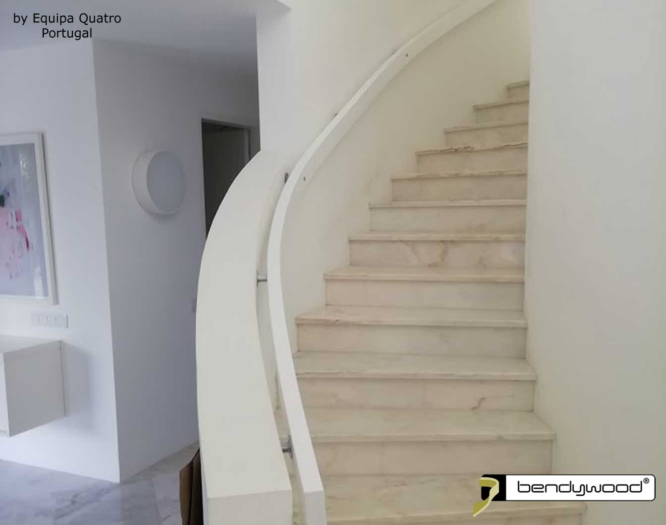 Bending wood Bendywood® - Modern curved wooden stair railing