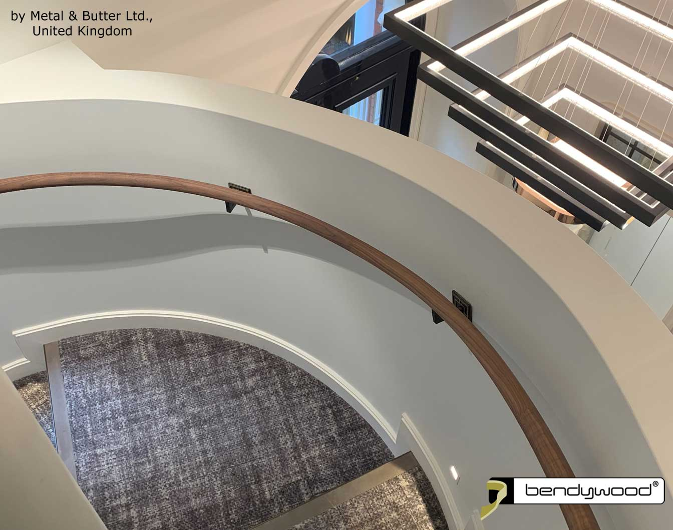 Bending wood Bendywood® - curved solid wooden handrail